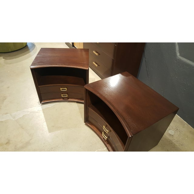 Paul Frankl for Johnson Furniture Walnut Nightstands - A Pair - Image 4 of 8