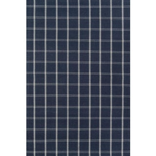 Erin Gates Marlborough Dover Navy Hand Woven Wool Area Rug 8' X 10' For Sale