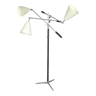 Classic Triennale Three-Arm Floor Lamp For Sale