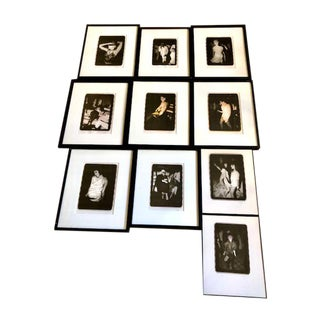 1970s Studio 54 Framed Photographs - Set of 10 For Sale