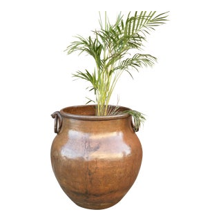 Amphora Copper Planter With Handles For Sale