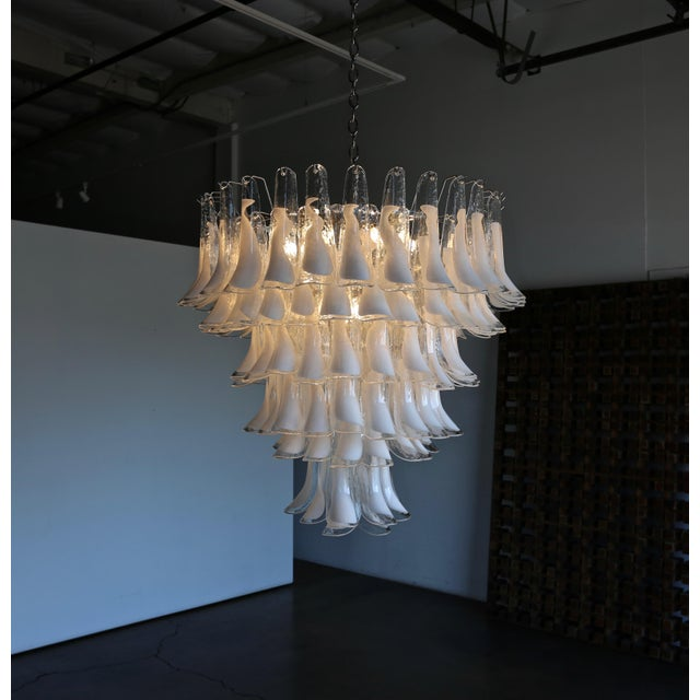 "Mazzega Large Scale Murano "" Selle "" Glass Chandelier circa 1988. 121 "" Selle "" Glass Pieces."