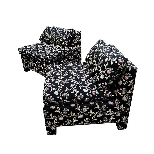Baughman Style Asian Inspired Slipper Chairs- A Pair - Image 1 of 5
