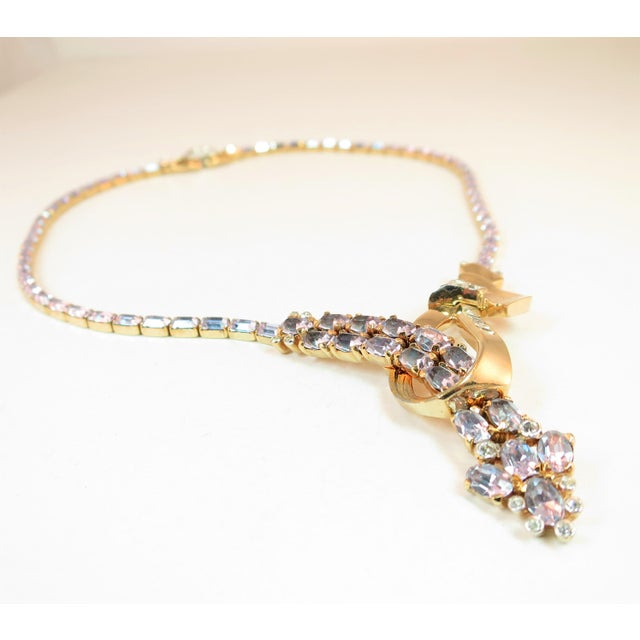 Mid-Century Modern Mid-Century Mazer Bros. Alexandrite Crystal Necklace Suite, 1940s For Sale - Image 3 of 11