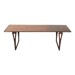 1960s Mid Century Modern Peter Hvidt Handcrafted Coffee Table For Sale