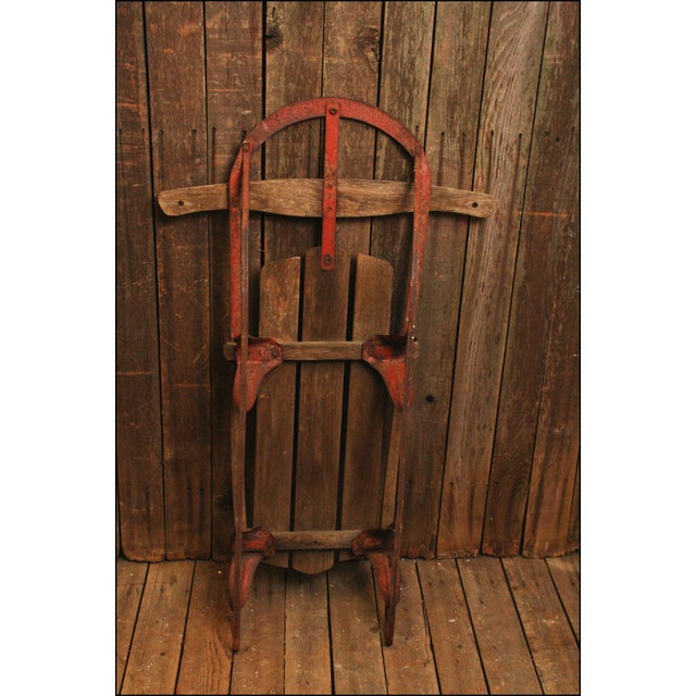 Vintage Weathered Wood & Metal Runner Sled -- Champion - Image 5 of 10