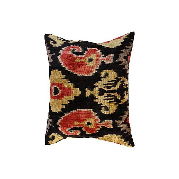 Art Deco Silk Velvet Ikat Pillows - Pair - Image 2 of 4