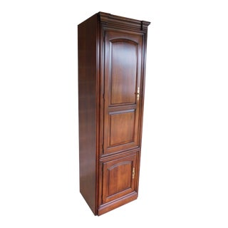"Statton Oldtowne Cherry Chippendale Style 2 Door Wall Cabinet ""A"" For Sale"