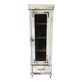 19th Century Rustic Pine Cabinet For Sale
