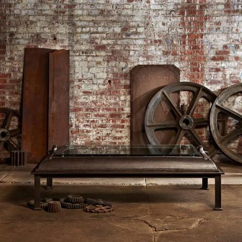 Cast Iron, Boiler Room Door Turned Coffee Table - Image 3 of 4