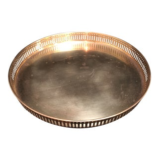 """Vintage Brass 11.75"""" Gallery Tray For Sale"""