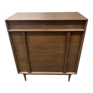 1950s Mid-Century Modern Walnut Dresser For Sale