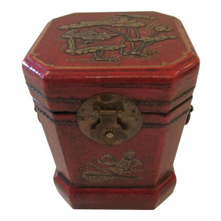 Chinoiserie Leather Embossed Decorative Box