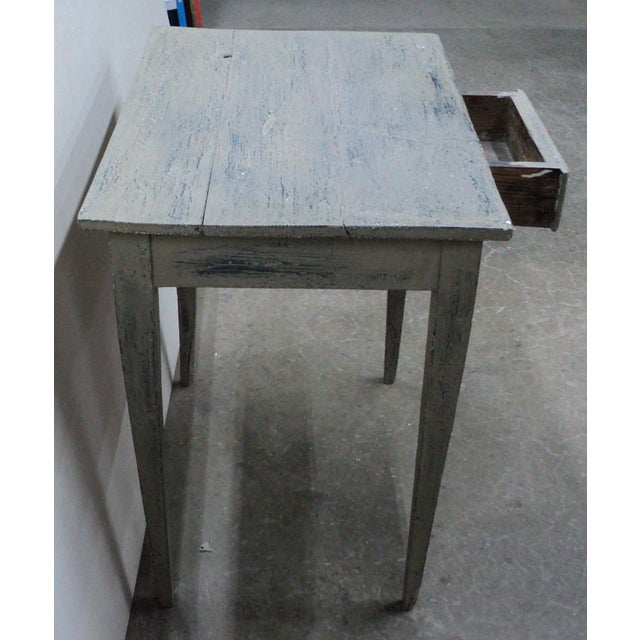 19th Century French Country Work Table in Old Paint For Sale - Image 9 of 10