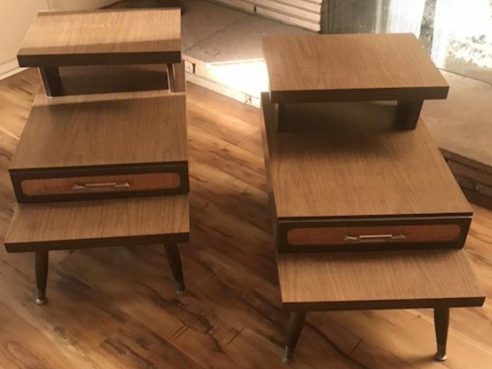 Mid Century Modern Retro Side Tables   A Pair For Sale   Image 5 Of