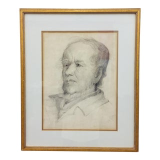 Portrait of a Man in Frame For Sale