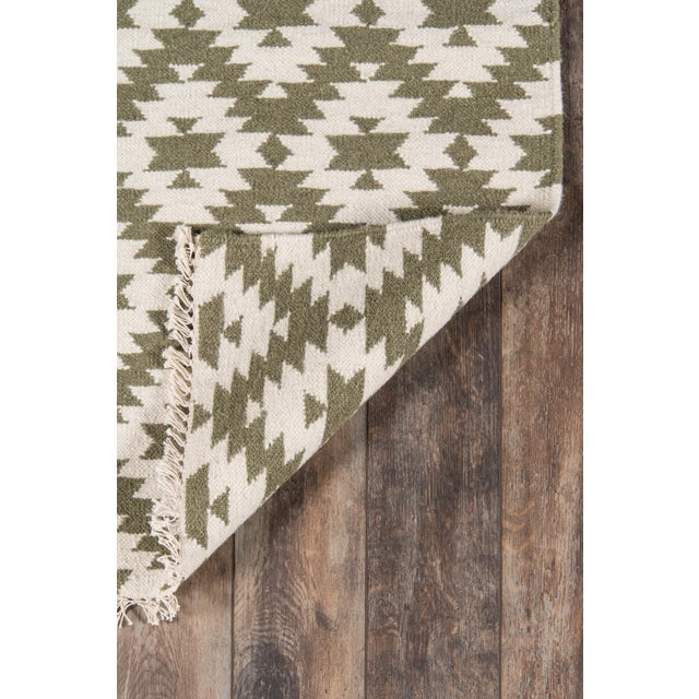 "Contemporary Erin Gates Thompson Newbury Grey Hand Woven Wool Area Rug 7'6"" X 9'6"" For Sale - Image 3 of 5"