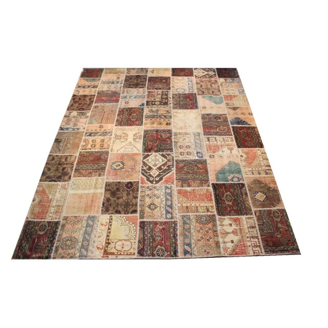 Anatolian Patchwork Rug - 9′4″ × 11′10″ For Sale - Image 4 of 6