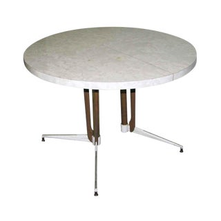 1950s Vintage Round White Table For Sale