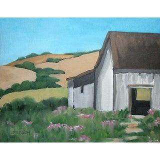 Santa Cruz Foothill Barn Landscape Oil Painting Lynne French Art For Sale