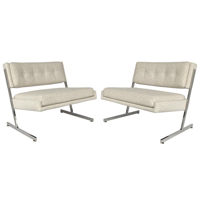 Pair of Harvey Probber Cantilever Slipper Lounge Chairs For Sale - Image 13 of 13