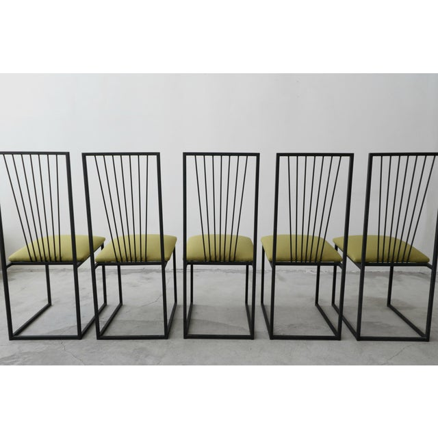Set of 6 Postmodern Memphis Milano Minimalist Style Dining Chairs For Sale In Las Vegas - Image 6 of 10