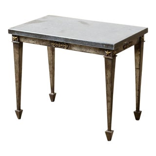 Vintage 1900s French Marble Top Table For Sale