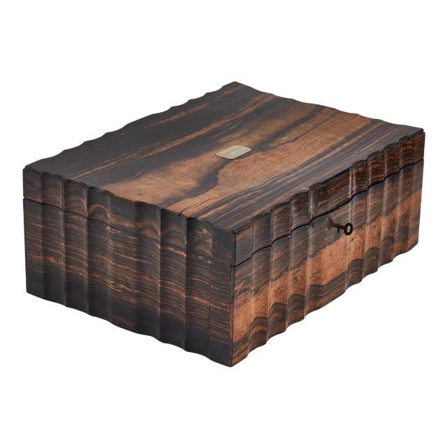 1882 King Ebony Inlaid Presentation Box For Sale