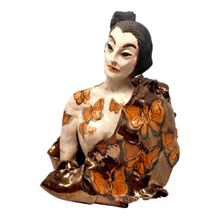Late 20th Century Theo Samuels Japanese Woman Sculpture For Sale