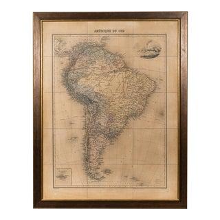 Sarreid Ltd. Framed Map of South America