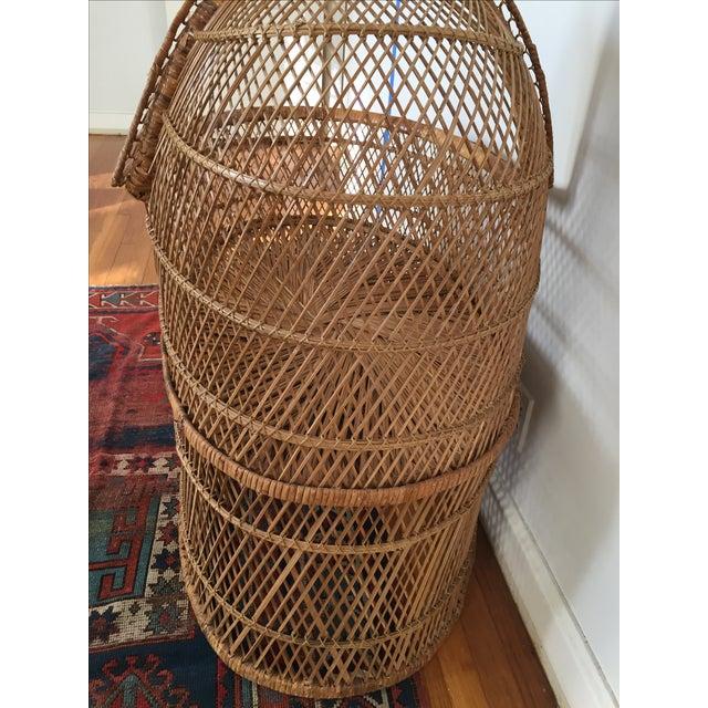 Vintage Bohemian Rattan Bassinet Crib For Sale - Image 5 of 6