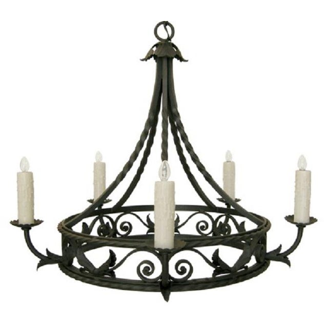 Item #: 9026 - Corona Chandelier (5-Arm) Matching Canopy Included. If requested, 3-Feet of Matching Chain Can Be Included...