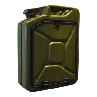 Danish Fuel Army Green Bar Cabinet