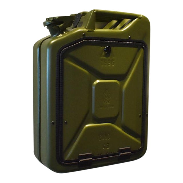 Danish Fuel Army Green Bar Cabinet For Sale