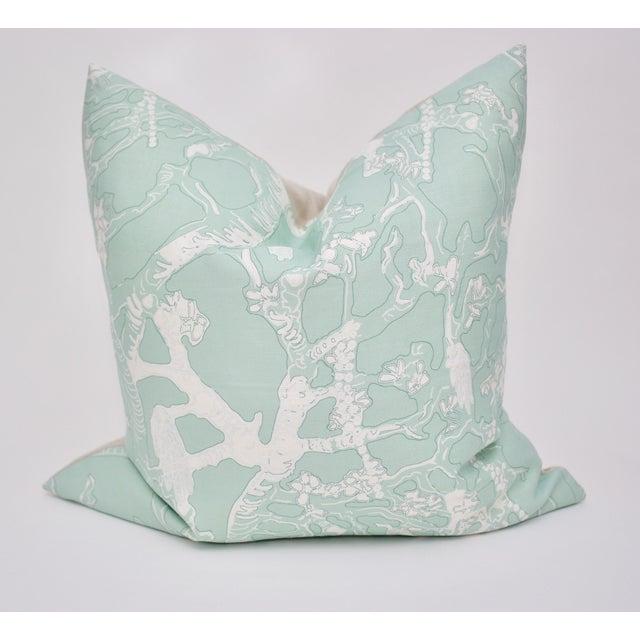 """Isobel """"60 Oaks"""" 25"""" Square Belgian Linen Pillow For Sale In Atlanta - Image 6 of 6"""