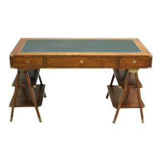 French Mid-Century Modern Marine Navigator's / Campaign Desk For Sale