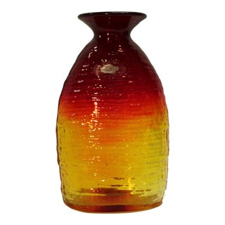 Blenko Amberina Vase