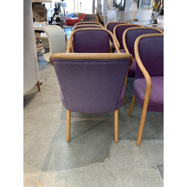 Brickel Associates Brickel Associates for Arthur Elrod Dining Chairs in Plum - Set of 8 For Sale - Image 4 of 12