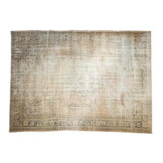 "Vintage Distressed Oushak Carpet - 7' X 9'8"" For Sale"
