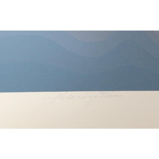 "Abstract Roy Ahlgren, ""Polarization"", Abstract Silkscreen For Sale - Image 3 of 4"