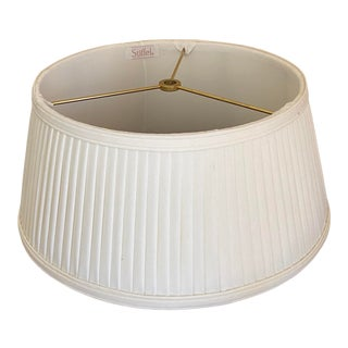 Vintage 1990s Stiffel Bouillotte Pleated Lamp Shade For Sale