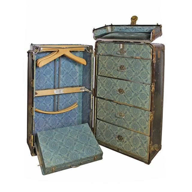 antique hartmann cushion top wardrobe trunk - Wardrobe Trunk