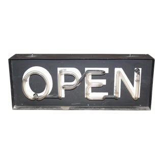 "1960s Vintage Red Neon ""Open"" Sign"