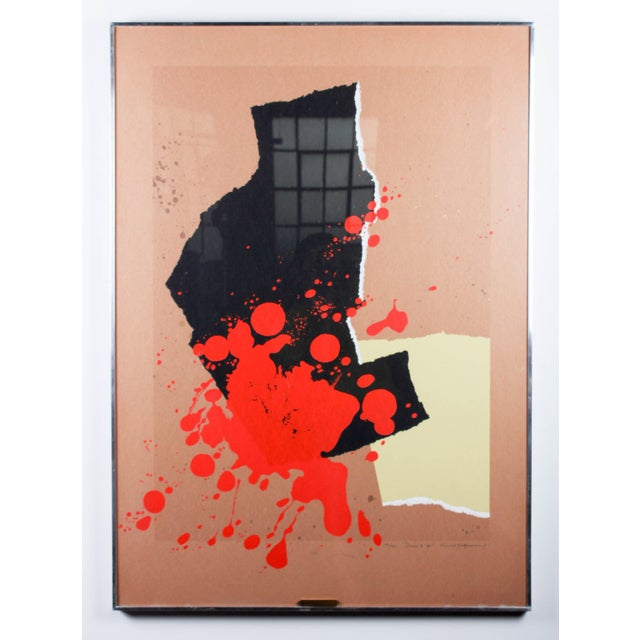 "Artist: Arnold Hoffman Jr. Title: ""Demo #11"" Dimensions: 42'' X 29 1/2'' Medium: Silkscreen. Framed. Signed: Arnold..."
