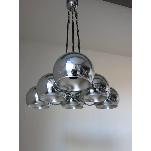 Italian Globes Pendant by Sarfatti For Sale - Image 3 of 7