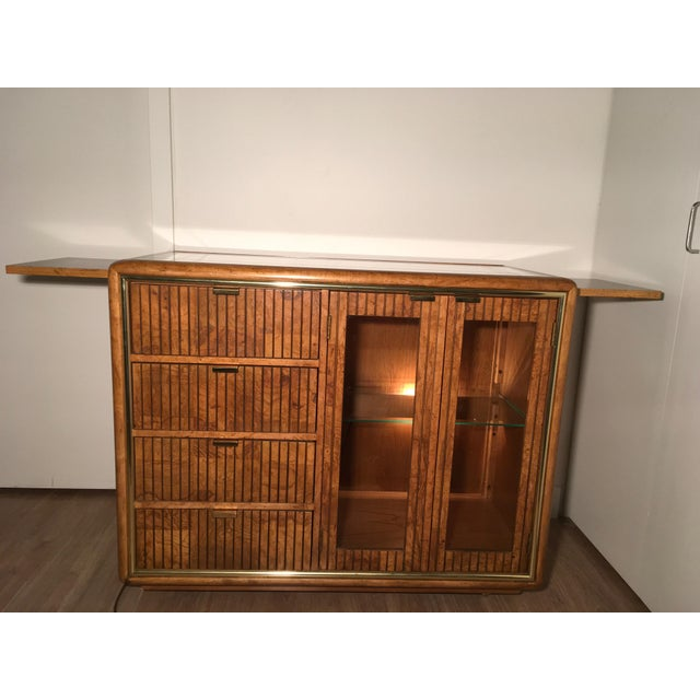 American of Martinsville Lighted Bar Cabinet - Image 6 of 10