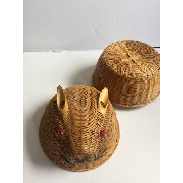 Vintage Wicker Rabbit Basket - Image 6 of 6