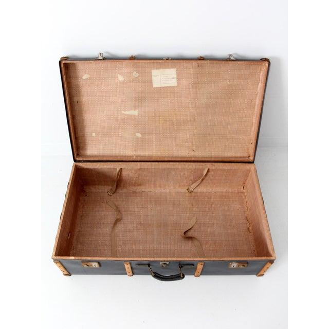 Bentwood Vintage Steamer Trunk Suitcase For Sale - Image 7 of 10