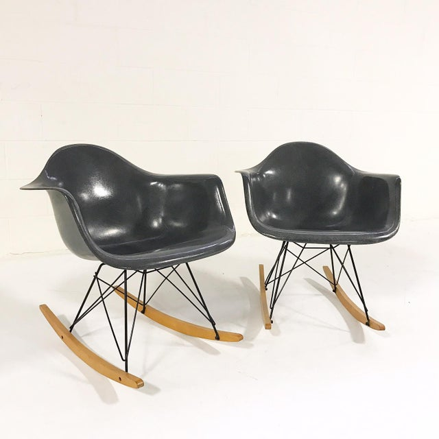 Charles & Ray Eames for Herman Miller Rar Rockers With Sheepskins - a Pair - Image 7 of 7
