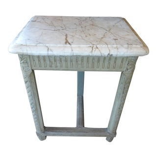 Pair of French Marble Top Consoles For Sale